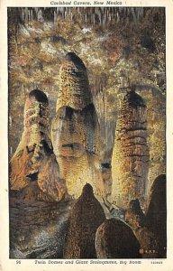 Twin Domes, Giant Stalagmites, Big Room Carlsbad Caverns, New Mexico NM