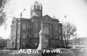Albia Iowa Court House Real Photo Antique Postcard K58938