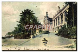 Old Postcard Monte Carlo Casino and the Terraces