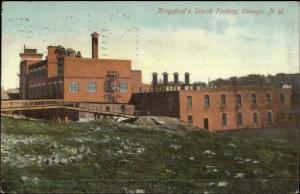 Oswego NY Kingsford's Starch Factory c1910 Postcard
