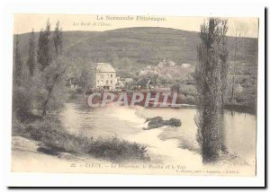 Clecy Old Postcard The spillway THE mill and Vay