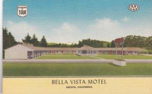 California Arcata Bella Vista Motel Redwood Highway 101 sk2678