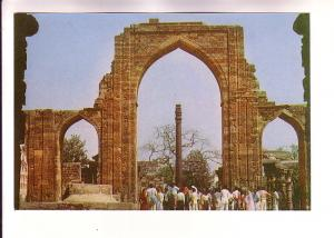 People Gathered at the Iron Pillar, Kutab Minar, New Delhi, India