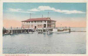 BURLINGTON, Vermont, 1900-10s; Yacht Club