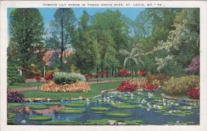 Famous Lily Ponds In Tower Grove Park Saint Louis Missouri 1941