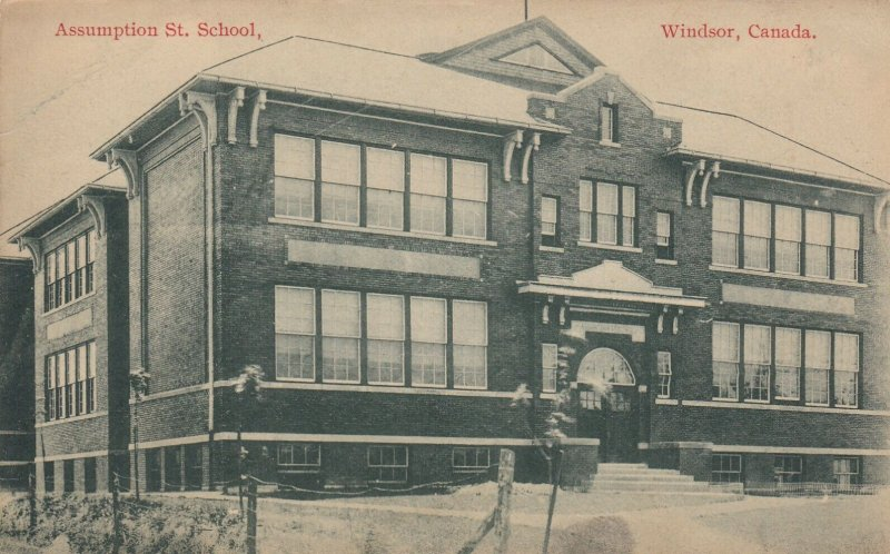 WINDSOR , Ontario, 1900-10s ; Assumption Street School