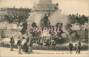 134 Old Postcards burgundy monument Girondins south br Group