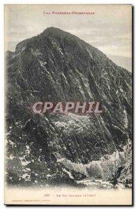 Old Postcard The Peak Canigou
