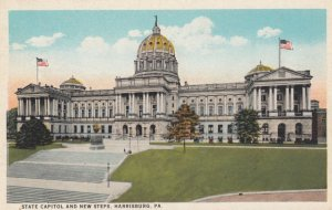HARRISBURG, Pennsylvania , 1910-20s; State Capitol and New Steps