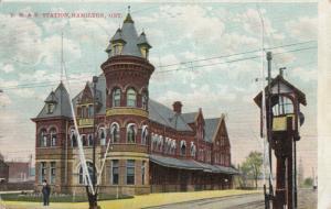 HAMILTON , Ontario , 1908 ; T.H. & B. Railroad Station