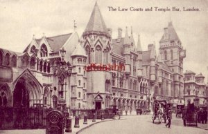 ENGLAND. THE LAW COURTS AND TEMPLE BAR in The Strand