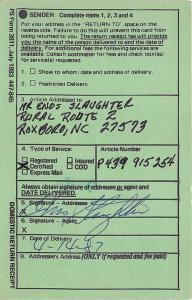 Enos Slaughter St Louis Cardinals 1987 USPS Postal Card