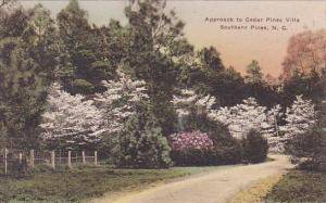 Approasch To Cadar Pines Villa Southern Pines North Carolina Handcolored Albe...