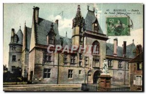 Old Postcard Bourges Facade of the Palace Jacques Coeur