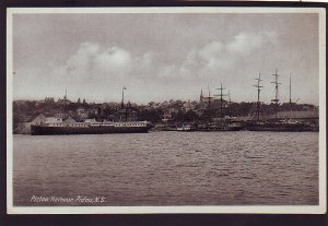 P1535 vintage unused postcard pictou harbour old ships Nova Scotia canada