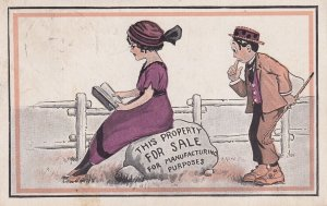 COMIC; 1900-1910's; This Property For Sale For Manufacturing Purposes