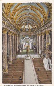 The Interior Of The Basilica, Ste. Anne De Beaupre, Quebec, Canada, 1910-1920s