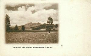C-1910 Flagstaff Arizona San Francisco Peaks Postcard 4689