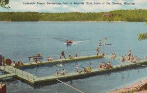 LAKE OF THE OZARKS, Missouri, 1940-60s; Lakeside Beach Swimming Pool at Bagne...