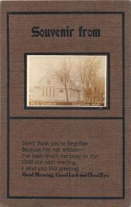 F35/ Holstein Iowa RPPC Postcard c1910 M.E. Church Building