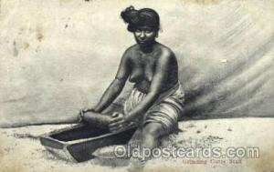 Grinding Curry Stuff African Nude Post Card Post Card  Grinding Curry Stuff