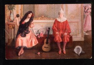 049031 Spanish Dancer & CLOWN by BELLET Vintage PC