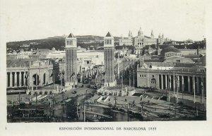 Postcard exhibitions Exposicion internacional Barcelona 1929 expo entrance