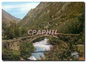 Postcard Modern Valls d'Andorra Santa Coloma
