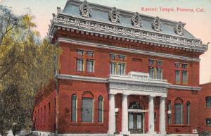 Masonic Temple, Pomona, California, Early Postcard, Unused