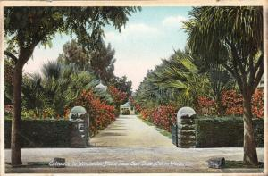 Entrance to Winchester Place near San Jose, Califonia in Winter, 10-20s