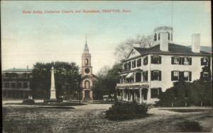Grafton MA Hotel Kirby Unitarian Church c1910 Postcard
