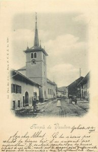 Suisse Temple de Vaulion corespondence Golisse - Sentier 1901 timbre rare