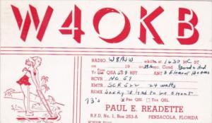 Florida Pensacola W 4 O K B Paul E Readette 1949