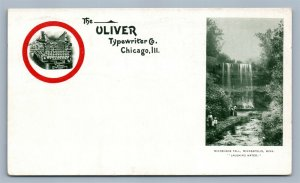 OLIVER TYPEWRITER COMPANY ADVERTISING CHICAGO IL PRIVATE MAIL ANTIQUE POSTCARD
