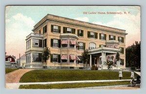 Schenectady NY, Old Ladies' Home, Vintage New York c1910 Postcard