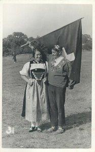 International Folk Dance Festival Exhibition London 1935 ethnic Swiss flag