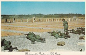 Marksmanship on Rifle Range , FORT CAMPBELL , Kentucky , 1950-60s