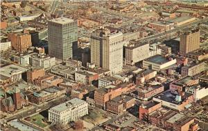 c1968 Postcard Air View Greensboro NC Business District Guilford Co. Unposted