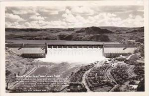 Washington Grand Coulee Dam From Crown Point Real Photo RPPC