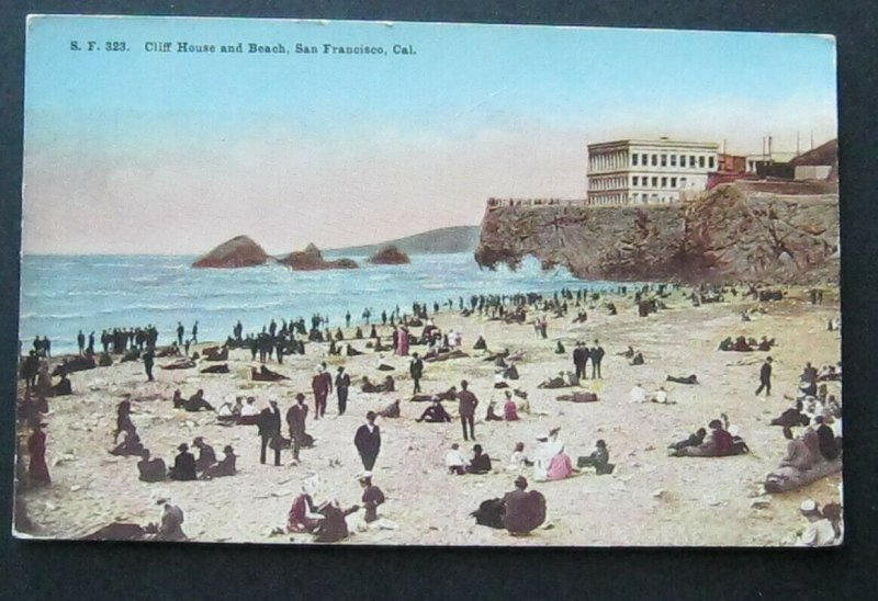 Cliff House and Beach San Francisco CA Pacific Novelty Co SF323 Unposted