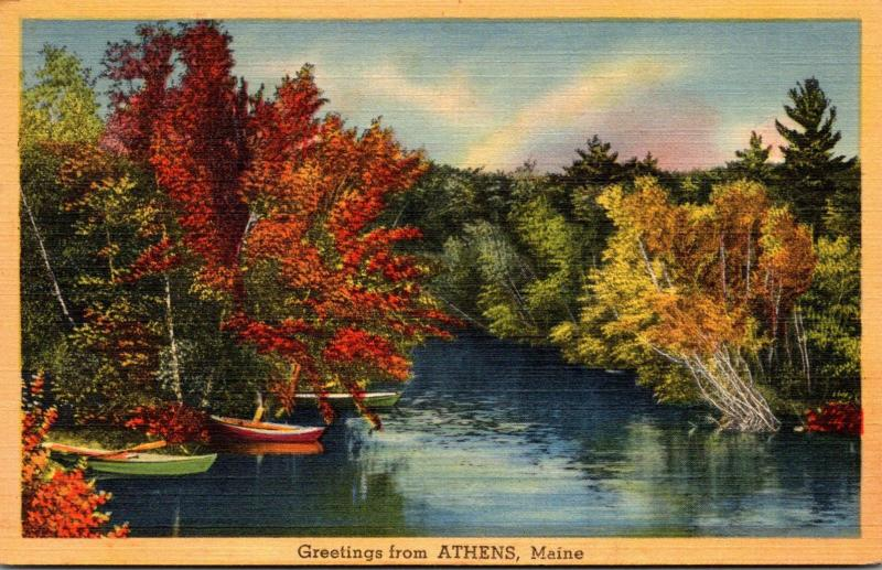 Maine Greetings From Athens 1946