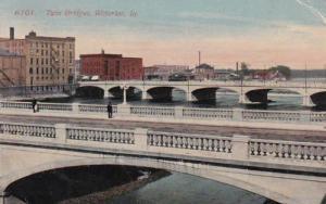 Iowa Waterloo Twin Bridges 1914