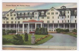 Pocono Haven Mt Pocono Pennsylvania linen postcard