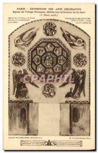 Old Postcard Paris Exposition des Arts Decoratifs Church Village French Socie...