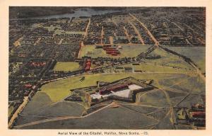Canada Nova Scotia, Halifax, Aerial View of the Citadel, Panorama