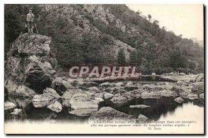Old Postcard Gargilesse Creuse black bridge