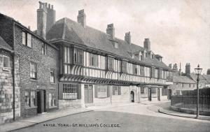 St. William's College, York, England, Early Postcard, unused