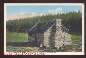 BRANSON MISSOURI SHEPHERD OF THE HILLS WASH GIBBS CABIN ON ROARK POSTCARD