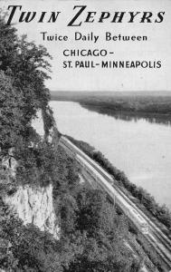 Bourlington Route Twin Zephyrs Trains Scenic View Vintage Postcard JD933445