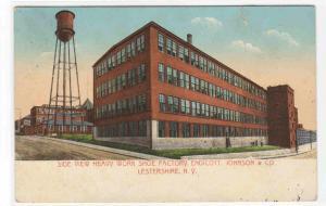 Shoe Factory Endicott Johnson & Co Lestershire New York 1910c postcard